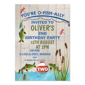 Convite do aniversário da aguarela de O-Fish_Ally