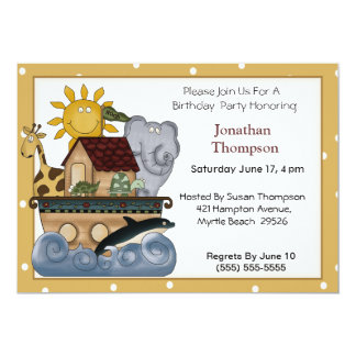 Convite do aniversário da arca de Noah
