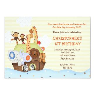 Convite do aniversário da arca de Noah (com foto