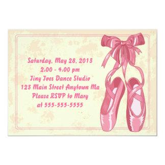 Convite do aniversário da bailarina do balé