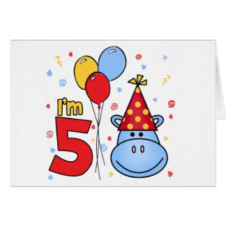 Convite do aniversário da cara azul do hipopótamo