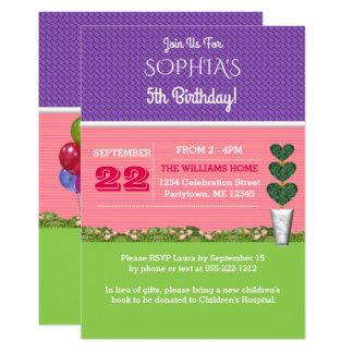 Convite do aniversário da casa de boneca