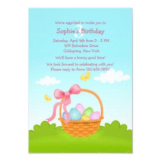 Convite do aniversário da cesta da páscoa