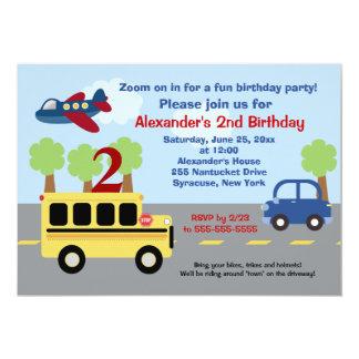 Convite do aniversário da cidade do auto escolar