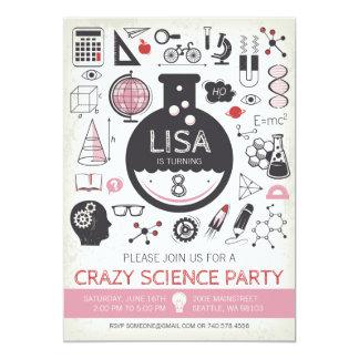 Convite do aniversário da ciência - menina