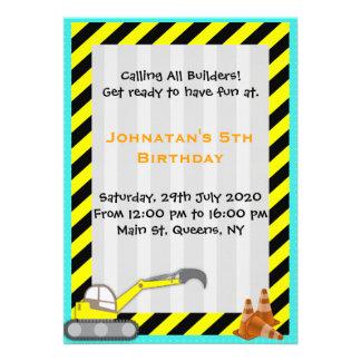 Convite do aniversário da construção da máquina es