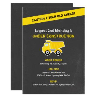 Convite do aniversário da construção, giz