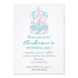 Convite do aniversário da criança do carrossel
