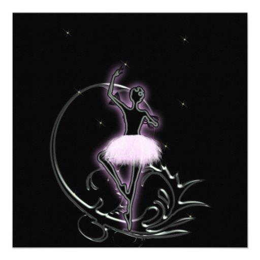 Convite do aniversário da dança da bailarina de Pr