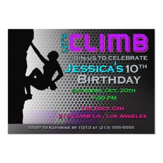 Convite do aniversário da escalada - deixe-nos