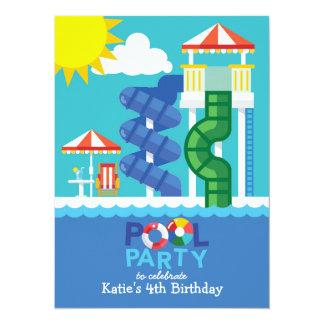 Convite do aniversário da festa na piscina da