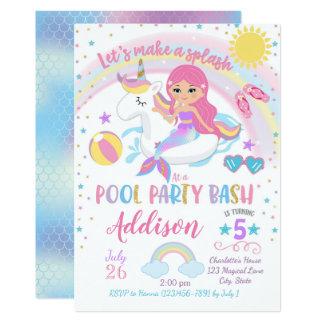 Convite do aniversário da festa na piscina do