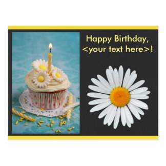 Convite do aniversário da flor da margarida