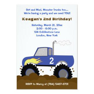 Convite do aniversário da foto do monster truck
