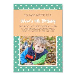 Convite do aniversário da foto dos miúdos das