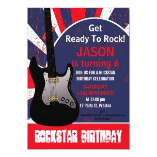 Convite do aniversário da guitarra da estrela do