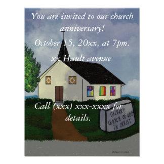 Convite do aniversário da igreja
