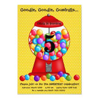 Convite do aniversário da máquina de Gumball