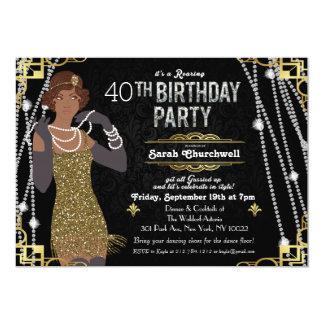 Convite do aniversário da menina do Flapper do