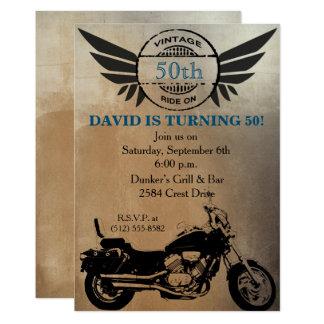 Convite do aniversário da motocicleta