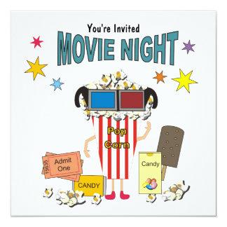 Convite do aniversário da noite de cinema