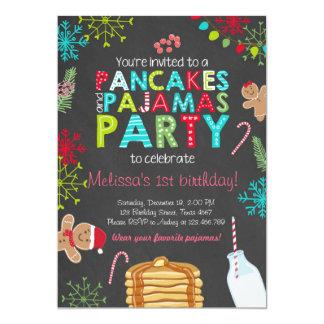 Convite do aniversário da panqueca e dos pijamas