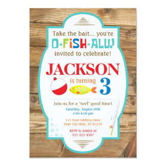 Convite do aniversário da pesca