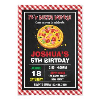 Convite do aniversário da pizza