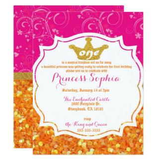 Convite do aniversário da princesa primeiro