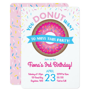 Convite do aniversário da rosquinha