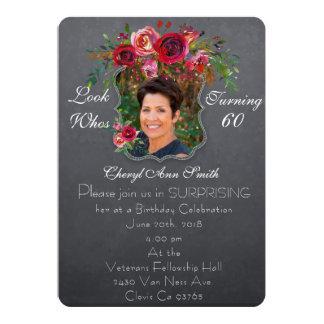 Convite do aniversário da surpresa - mulheres #
