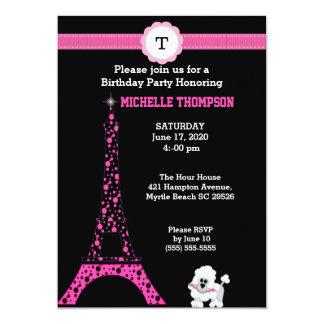 Convite do aniversário da torre Eiffel do