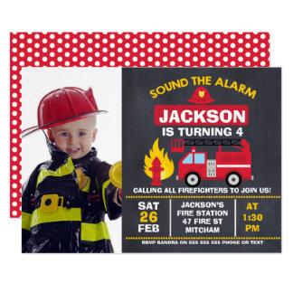 Convite do aniversário da viatura de incêndio da