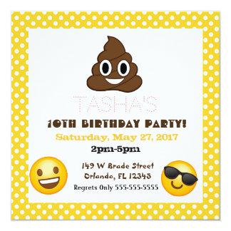 Convite do aniversário das bolinhas de Emoji