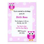 Convite do aniversário das crianças cor-de-rosa