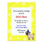 Convite do aniversário das crianças do filhote de