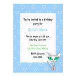 Convite do aniversário das crianças do gato do par