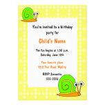 Convite do aniversário das crianças felizes do car