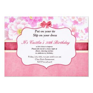 Convite do aniversário das flores e das mulheres