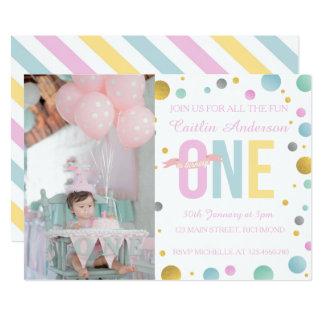 Convite do aniversário das meninas primeiro -