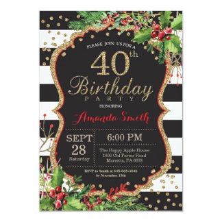 Convite do aniversário de 40 anos. Ouro preto