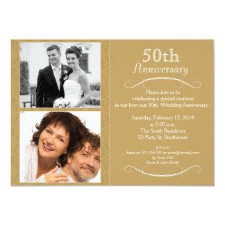 convite do aniversário de casamento 5oth