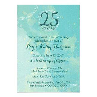 Convite do aniversário de casamento da aguarela