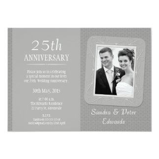 Convite do aniversário de casamento da prata da