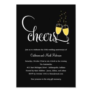 Convite do aniversário de casamento do brinde de