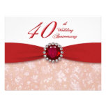 Convite do aniversário de casamento do damasco 40t