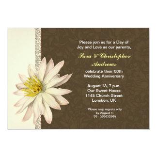 convite do aniversário de casamento do lírio