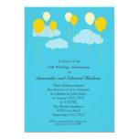 Convite do aniversário de casamento dos balões