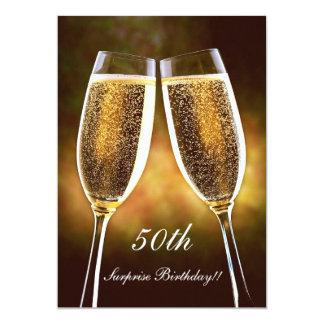 Convite do aniversário de Champagne
