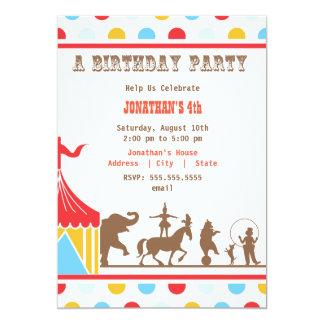 Convite do aniversário de criança - circo